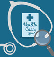 stethoscope search health care vector image vector image