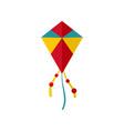 summer kite icon flat style vector image
