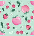 summer seamless pattern with fruits berries and vector image vector image