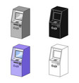 terminal atm for receiving cash terminals single vector image vector image
