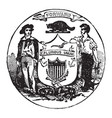the official seal of the us state of wisconsin in vector image vector image