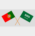 the portuguese and saudi arabia flags vector image vector image