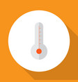 thermometer icon flat symbol premium quality vector image