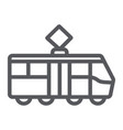 tram line icon transportation and railway city vector image vector image