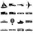 Transportation items icons set simple style vector image