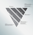 Triangle template consists of five greyscale parts vector image vector image