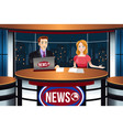 tv news anchors vector image vector image