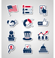 Voting and elections paper cut icons vector image vector image