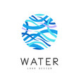 water logo design brand identity template vector image