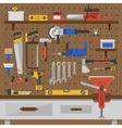Work Tools Wall Composition vector image vector image