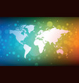 world map abstract bokeh background vector image