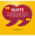 yellow quotation marks vector image vector image