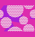zigzag seamless pattern with pink and violet vector image vector image