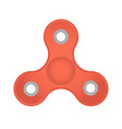 realistic toy fidget spinner or hand spinner vector image