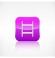 Film web icon Application button vector image