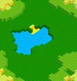 Seamless lego land vector image