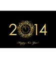 2014 new year clock vector image