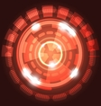 Abstract technology red background with circles vector image