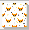 Animal seamless pattern collection with fox 6 vector image vector image