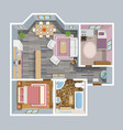 Architectural Flat Plan Top View vector image vector image