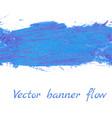 banner flow vector image vector image