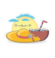 beach vacation summer holiday vector image vector image