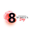 beautiful womens day greeting design vector image vector image