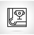 Billiard tournament simple black line icon vector image vector image