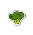 Broccoli doodle icon