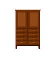 brown wardrobe interior design element vector image