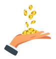 businessman hand holding money vector image