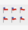 chile flag symbols set national flag icons vector image