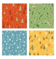 Christmas doodle pattern set vector image vector image