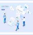cloud storage sharing technology isometric vector image vector image