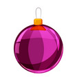 colour christmas purple ball isolated on white vector image