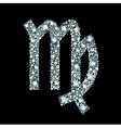 Diamond Virgo Symbol vector image vector image