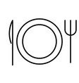 dinner service icon vector image vector image