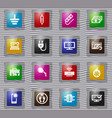 electronic repair glass icons set vector image