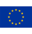 flag of european union eu twelve gold stars on vector image vector image