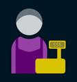 flat icon cashier vector image vector image