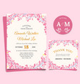 floral wedding invitation elegant thank you card vector image vector image