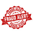 fraud alert stamp sign seal vector image vector image