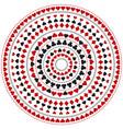 gambling poker round mandala with red and black vector image vector image