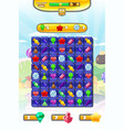 game ui candy match 3 set game icons buttons and vector image vector image