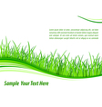 Grass wave background vector image vector image