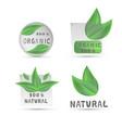 green label organic vector image vector image