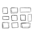 hand drawn grunge contour frames vector image