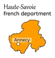 Haute-Savoie french department map vector image vector image