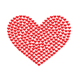 heart of the small particles of hearts vector image