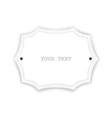 Just white isolated signboard vector image vector image